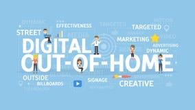 Digital hors de maison Photo libre de droits