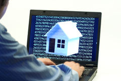 Digital house Stock Photography