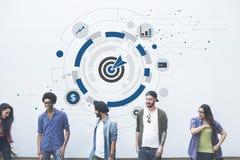 Digital Hud Target Symbol Graphics Concept Immagine Stock Libera da Diritti