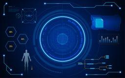 Free Digital Hud Ui Screen Virtual Tech Concept Background Royalty Free Stock Image - 101813826