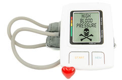 Digital Hypertension blood pressure monitor Stock Image