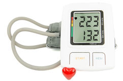 Digital Hypertension blood pressure monitor Stock Photos