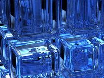 Digital ice. Three-dimensional abstract backgrounds royalty free illustration