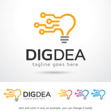Digital Idea Logo Template Design Vector. This design suitable for logo or icon Royalty Free Stock Photography