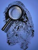 Digital Identity. Shown as binary code inside fingerprint Royalty Free Stock Photos