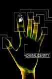 Digital identity black. A secure abstract image that represents payment online stock illustration