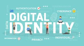 Digital identity concept illustration. Idea of personal data Stock Image