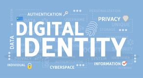 Digital identity concept illustration. Idea of personal data Royalty Free Stock Image