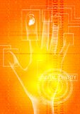 Digital identity orange Royalty Free Stock Image