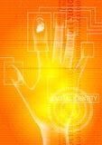Digital identity orange vector illustration
