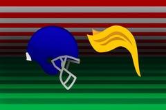 USA, 25 September 2017 - NFL vs Trump. NFL Teams stand together against President Trump's anthem stance. Digital Illustration of American football helmet Royalty Free Stock Image