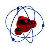 Digital illustration av atomen Royaltyfri Bild