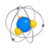Digital illustration av atomen Royaltyfria Bilder