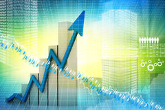 Digital illustration of business graph Stock Image