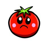 Angry Cartoon Tomato royalty free illustration
