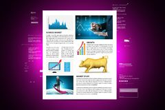 Concepts for Stock market News. Digital illustration of concepts for Stock market News stock image