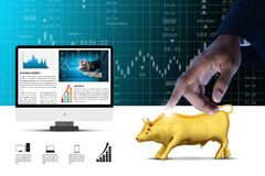 Concepts for Stock market online News Stock Image