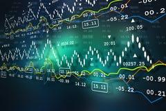 Data analyzing in stock market. Digital illustration of Data analyzing in stock market  in color background Royalty Free Stock Image