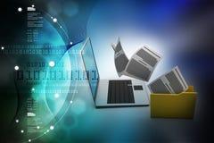 Digital illustration of Data transferring stock illustration