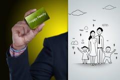 Digital-Illustration des glücklichen Familienkonzeptes Lizenzfreie Stockfotografie