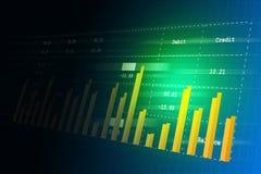 Digital-Illustration des Umsatzwachstumsdiagramms in der Börse vektor abbildung