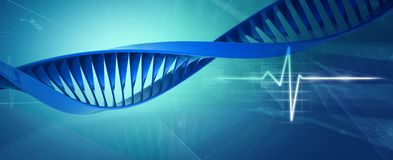 Digital illustration of a dna Royalty Free Stock Image