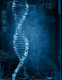 Digital illustration of dna Royalty Free Stock Photo