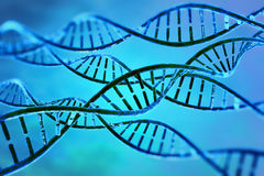 Digital illustration dna cell Royalty Free Stock Images