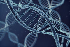 Digital illustration dna cell Stock Images