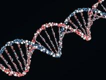 Digital illustration of a DNA model on science background. 3D. Rendering Royalty Free Stock Image
