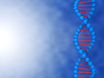 Digital illustration of a DNA with place for your Royalty Free Stock Photo