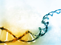 Digital illustration of dna Stock Images