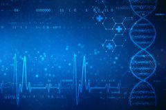 Digital Illustration of DNA structure, abstract medical background