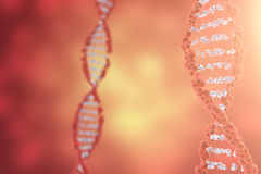 Digital illustration DNA structure in colourful background. Medicine concept 3d rendering Royalty Free Stock Images