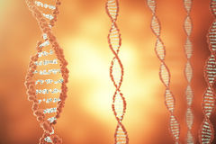 Digital illustration DNA structure in colourful background. Medicine concept 3d rendering Stock Photo