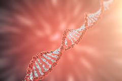 Digital illustration DNA structure in colourful background. Medicine concept 3d rendering Stock Photography