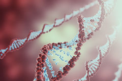 Digital illustration DNA structure in colourful background. Medicine concept 3d rendering Royalty Free Stock Image