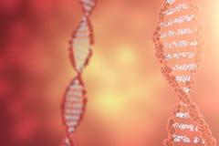 Digital-Illustration DNA-Struktur im bunten Hintergrund Wiedergabe des Medizinkonzeptes 3d Lizenzfreie Stockbilder
