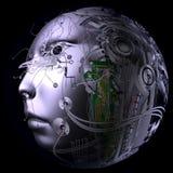 Digital-Illustration eines Cyborg-Kopfes Lizenzfreie Stockbilder