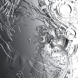 Digital-Illustration eines Cyborg-Kopfes Lizenzfreies Stockbild
