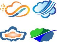 Digital illustration för moln Arkivfoton