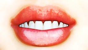 Digital Illustration of a female Mouth. Digital 3D Illustration of a female Mouth Royalty Free Stock Images