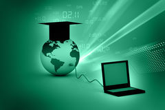 Global computer education Stock Images