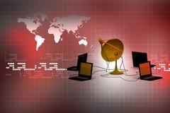 Global computer Network. Digital illustration of Global computer Network Royalty Free Stock Images