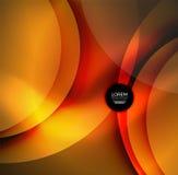 Digital illustration, glowing waves and circles Royalty Free Stock Photography