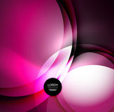 Digital illustration, glowing waves and circles Royalty Free Stock Photography