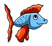 Curious Happy Fish stock illustration