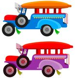 Jeepney. A digital illustration of a Jeepney stock illustration