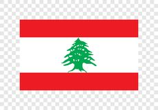 Lebanon - National Flag royalty free illustration