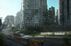 Post Apocalyptic Street And Buildings